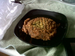 Nothing like a chick pea fritter!