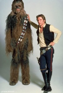 Well hello first husband, Han Solo...you and your Wookie would be more than welcome in my home.