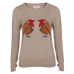 Robin Intarsia Knit Jumper by Poem