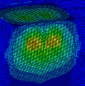 "Engineer Love - ""displacement contour plot for a FE model of a ship's hull"".... yeah sure....I just see a heart."