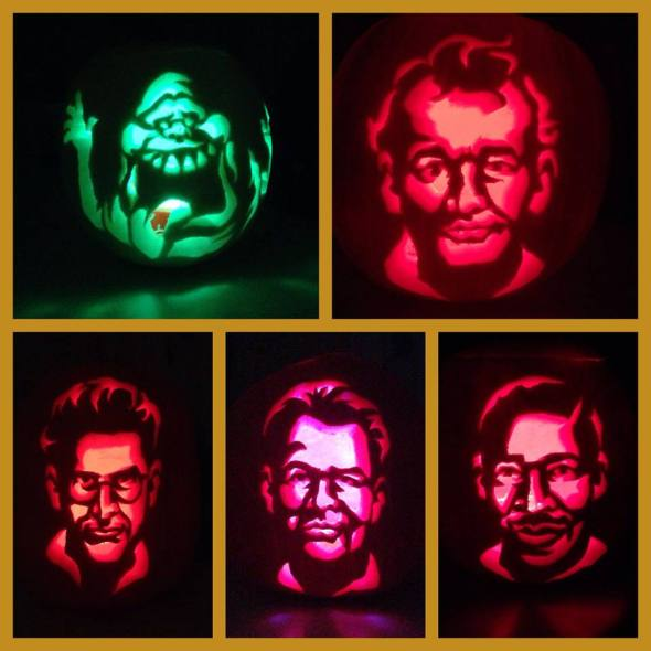 Ghostbusters Carvings