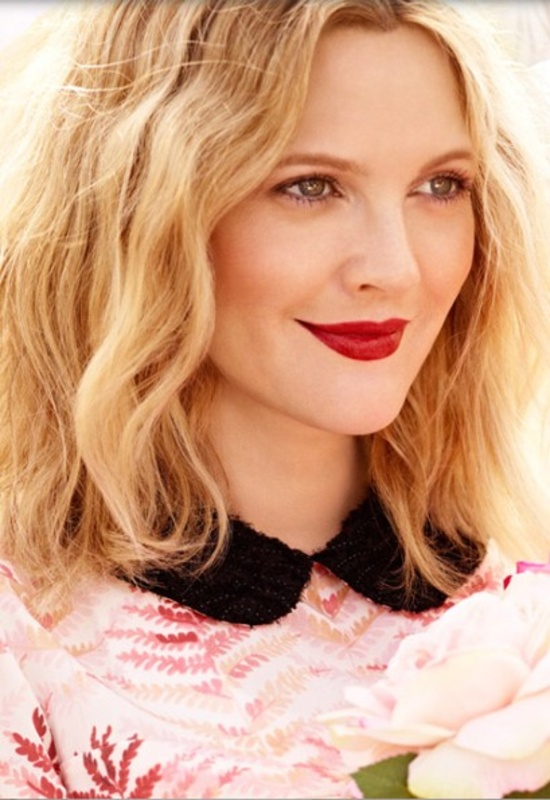 Drew Barrymore via Yahoo