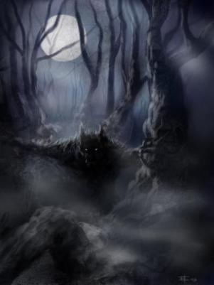 werewolf_hunting_woods_fog_night
